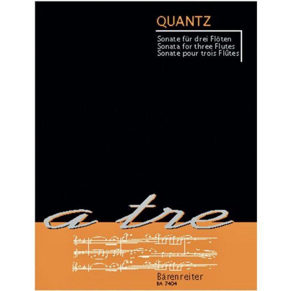 BÄRENREITER: QUANTZ.J - SONATA FOR THREE FLUTES