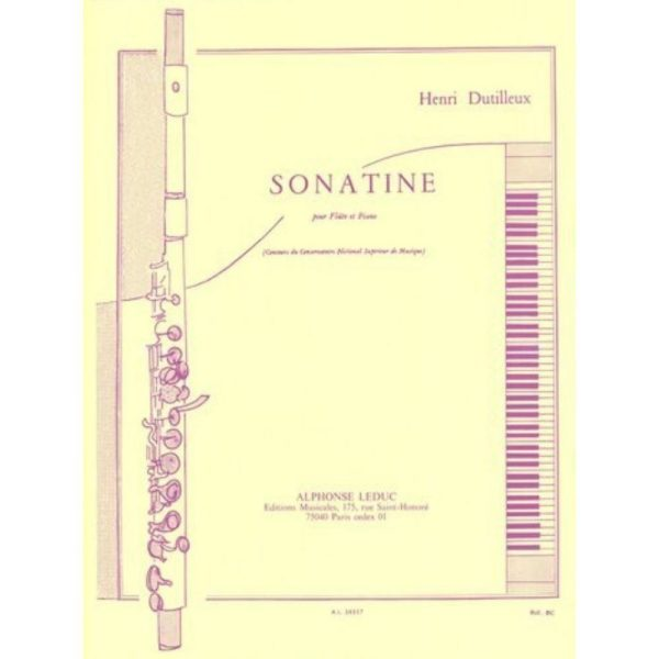 Alphonse Leduc: Dutilleux. H Sonatine for flute and piano.