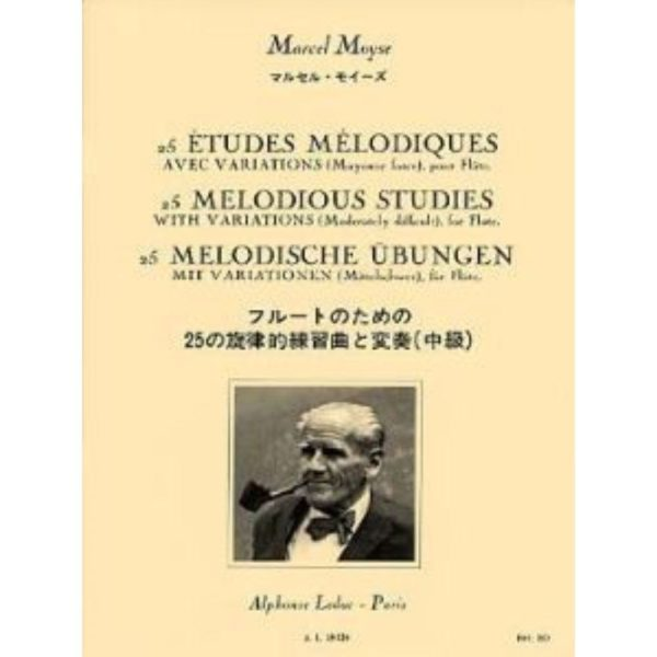 ALPHONSE LEDUC: MOYSE. M - 25 MELODIOUS STUDIES WITH VARIATIONS