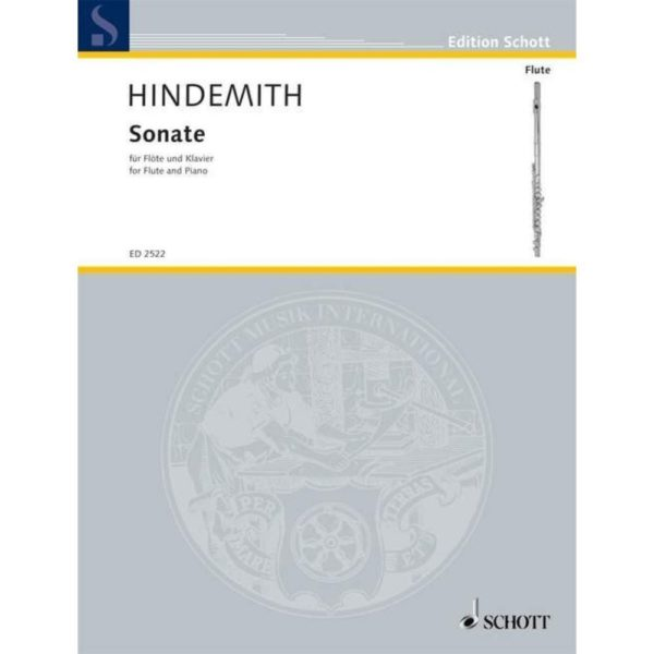 SCHOTT: Hindemith Sonate for flute and piano.