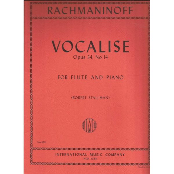 IMC: RACHMANINOV VOCALISE FOR FLUTE AND PIANO.